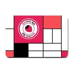 Brand Strawberry Piet Mondrian White Small Door Mat
