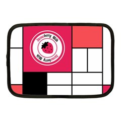 Brand Strawberry Piet Mondrian White 10  Netbook Case