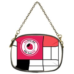 Brand Strawberry Piet Mondrian White Single Sided Evening Purse