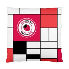 Brand Strawberry Piet Mondrian White Twin-sided Cushion Case