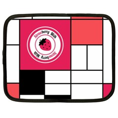 Brand Strawberry Piet Mondrian White 15  Netbook Case