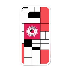 Brand Strawberry Piet Mondrian White White Apple iPhone 4 Case