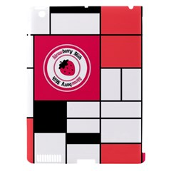 Brand Strawberry Piet Mondrian White Apple Ipad 3/4 Hardshell Case (compatible With Smart Cover)