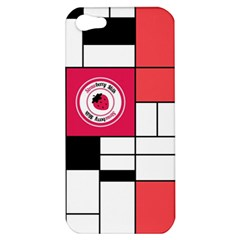 Brand Strawberry Piet Mondrian White Apple iPhone 5 Hardshell Case