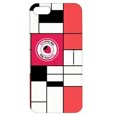 Brand Strawberry Piet Mondrian White Apple iPhone 5 Hardshell Case with Stand