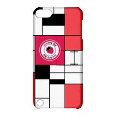 Brand Strawberry Piet Mondrian White Apple iPod Touch 5 Hardshell Case with Stand