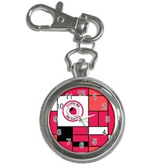 Brand Strawberry Piet Mondrian Pink Key Chain & Watch