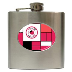 Brand Strawberry Piet Mondrian Pink Hip Flask
