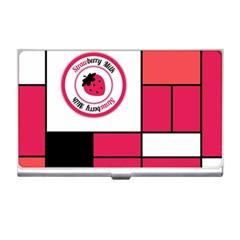 Brand Strawberry Piet Mondrian Pink Business Card Holder