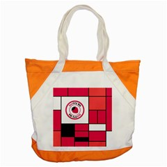 Brand Strawberry Piet Mondrian Pink Snap Tote Bag