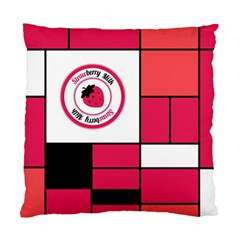 Brand Strawberry Piet Mondrian Pink Single Sided Cushion Case