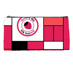Brand Strawberry Piet Mondrian Pink Pencil Case