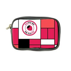 Brand Strawberry Piet Mondrian Pink Ultra Compact Camera Case