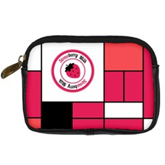 Brand Strawberry Piet Mondrian Pink Compact Camera Case