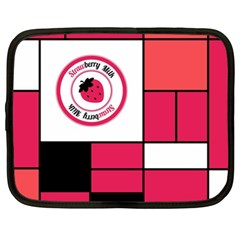 Brand Strawberry Piet Mondrian Pink 13  Netbook Case