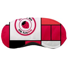 Brand Strawberry Piet Mondrian Pink Sleep Eye Mask