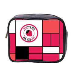 Brand Strawberry Piet Mondrian Pink Twin Sided Cosmetic Case