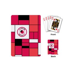 Brand Strawberry Piet Mondrian Pink Playing Cards (Mini)