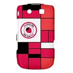 Brand Strawberry Piet Mondrian Pink BlackBerry Torch 9800 9810 Hardshell Case