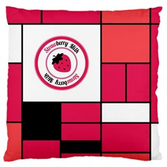 Brand Strawberry Piet Mondrian Pink Large Cushion Case (Two Sides)