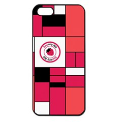 Brand Strawberry Piet Mondrian Pink Apple iPhone 5 Seamless Case (Black)