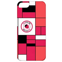Brand Strawberry Piet Mondrian Pink Apple Iphone 5 Classic Hardshell Case
