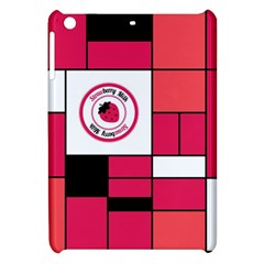 Brand Strawberry Piet Mondrian Pink Apple iPad Mini Hardshell Case