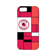 Brand Strawberry Piet Mondrian Pink Apple iPhone 5 Classic Hardshell Case (PC+Silicone)