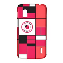 Brand Strawberry Piet Mondrian Pink LG Nexus 4 E960 Hardshell Case