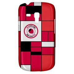 Brand Strawberry Piet Mondrian Pink Samsung Galaxy S3 MINI I8190 Hardshell Case
