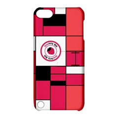 Brand Strawberry Piet Mondrian Pink Apple iPod Touch 5 Hardshell Case with Stand