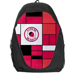 Brand Strawberry Piet Mondrian Pink Backpack Bag