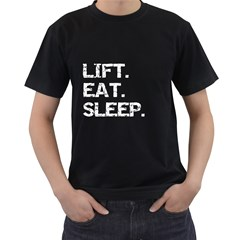 LIFTING Black Mens T-shirt