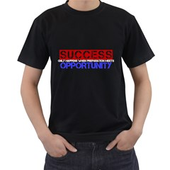 SUCCESS OPPORTUNITY Black Mens T-shirt