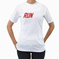 Run White Womens T Shirt