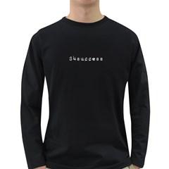 SUCCESS Dark Long Sleeve Mens T-shirt (BLK/BLU/RED)
