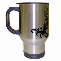 A Touch Of Gold  Brushed Chrome Travel Mug