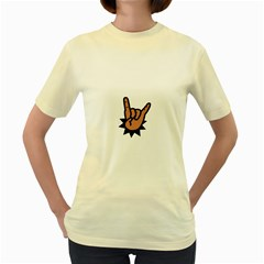 Friday Rocks Women s Yellow T-Shirt