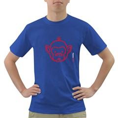 FunkyMonkey Red Outline Dark T-Shirt