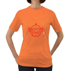 FunkyMonkey Red Outline Women s Dark T-Shirt
