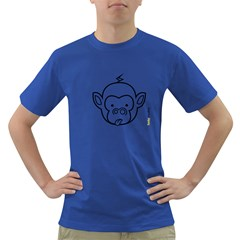 Monkey Black Outline Dark T Shirt