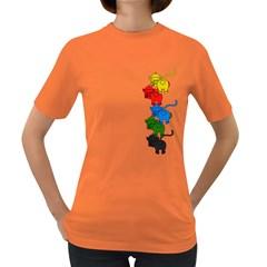 Scornful Jenga Women s Dark T-Shirt