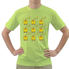 Monkey Nine Backs Green T-Shirt