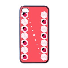 Cake Top Rose Apple Iphone 4 Case (black)