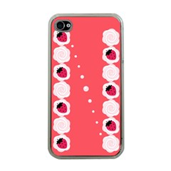 Cake Top Rose Apple iPhone 4 Case (Clear)