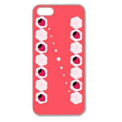 Cake Top Rose Apple Seamless iPhone 5 Case (Clear)