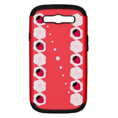 Cake Top Rose Samsung Galaxy S III Hardshell Case (PC+Silicone)
