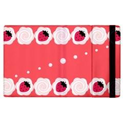 Cake Top Rose Apple iPad 2 Flip Case