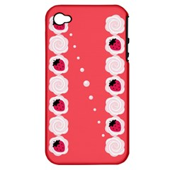 Cake Top Rose Apple iPhone 4/4S Hardshell Case (PC+Silicone)