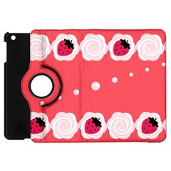 Cake Top Rose Apple Ipad Mini Flip 360 Case
